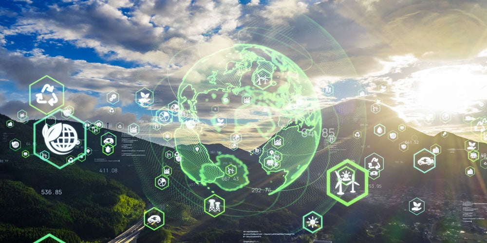 Environmental technology concept. Sustainable development goals.